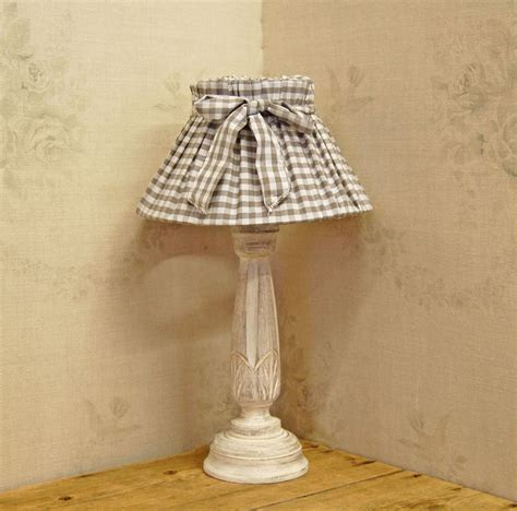 DIY Shabby Chic Fabric Lamp Shades For Corner Table Lamp