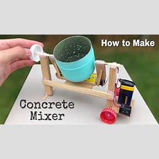 How To Make Amazing Diy Concrete Mixer Machine At Home  Easy To Build Youtube