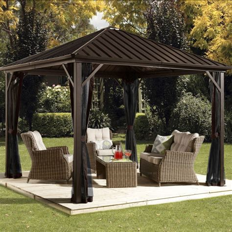 metal gazebo ideas enhance yard garden style