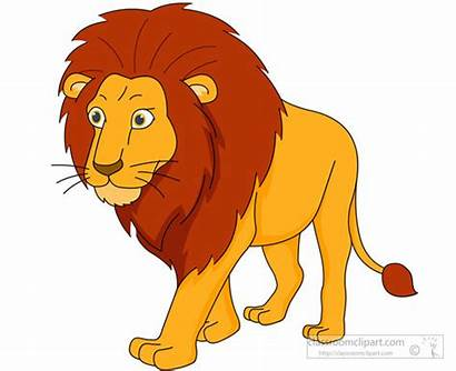 Lion Clipart Walking Male Clip Cartoon Animals