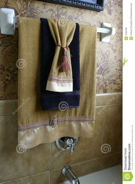 Towels Hanging In Bathroom Stock Luxury Towels Royalty Free Stock Image Image 1220746