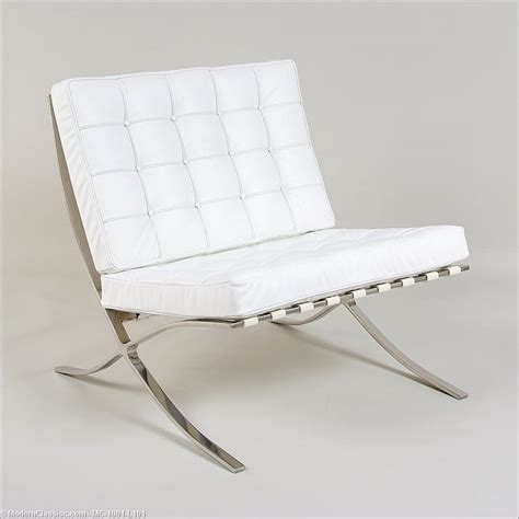 mies der rohe exhibition chair white barcelona chair