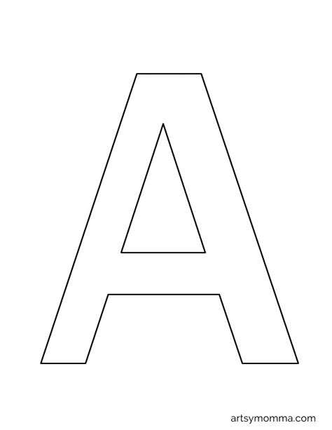 Letter A Template by Refrence A4 Alphabet Letter Template Kishsafar