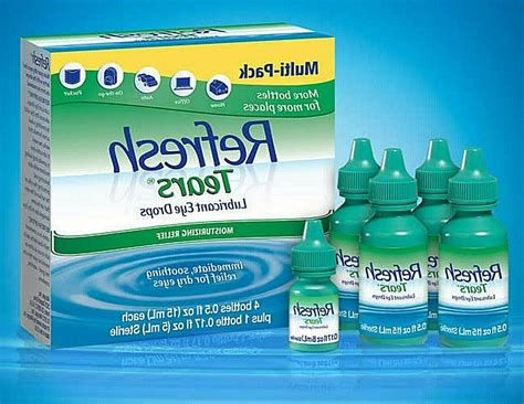Refresh Plus Lubricant Eye Drops Safe for Contacts