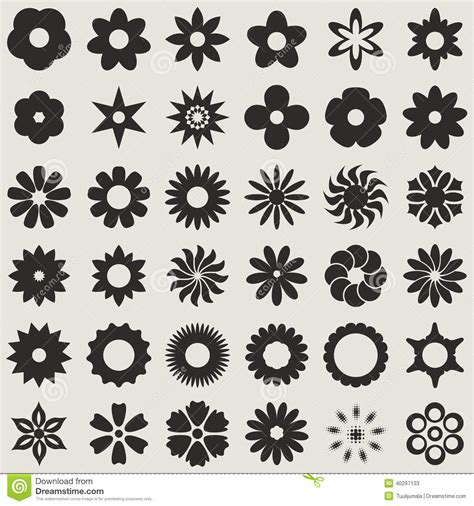 Abstract Flower Shapes by Flower Bud Shapes Stock Vector Image 40297133