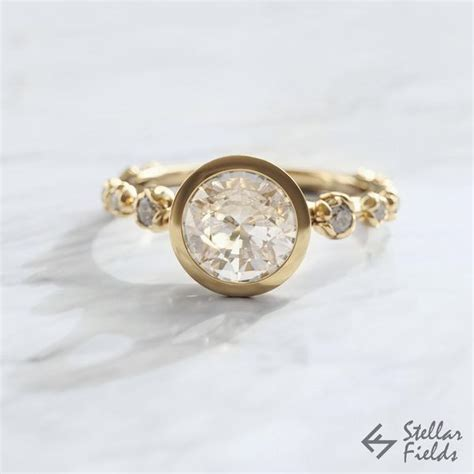 stellar fields engagement rings bezel rings handmade