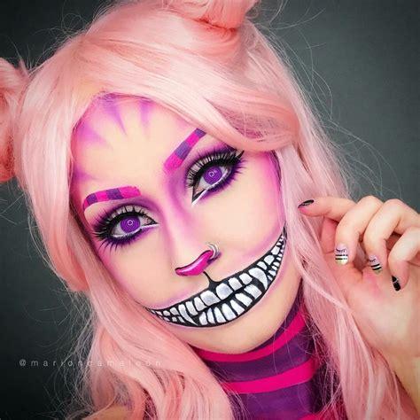 pin  katy adams    artistic cat halloween makeup cheshire cat makeup cheshire