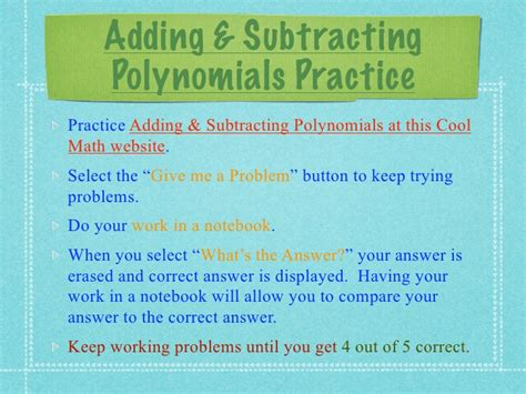 Amazing Addition And Subtraction Of Polynomials Worksheet Addition