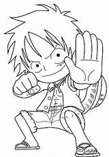 Luffy Coloring Pages Chibi Printable Anime Piece Popular Cartoon Categories sketch template