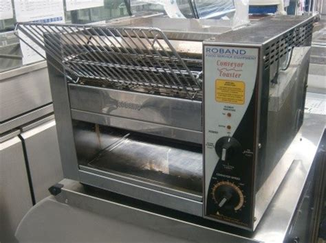 used commercial toaster roband tcr15 conveyor toaster salamander commercial
