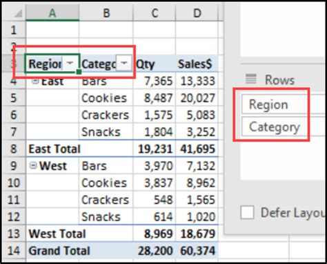 quickly change pivot table layout excel pivot tables