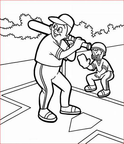 Baseball Coloring Pages Printable Filminspector Put
