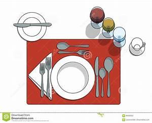 Table Setting Stock Vector  Illustration Of Butter  Order