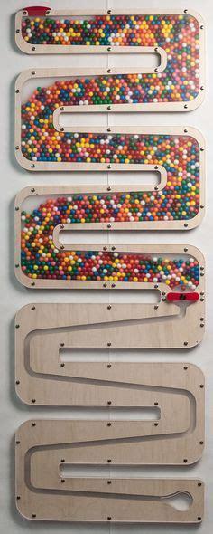handmade wooden push button candy dispenser