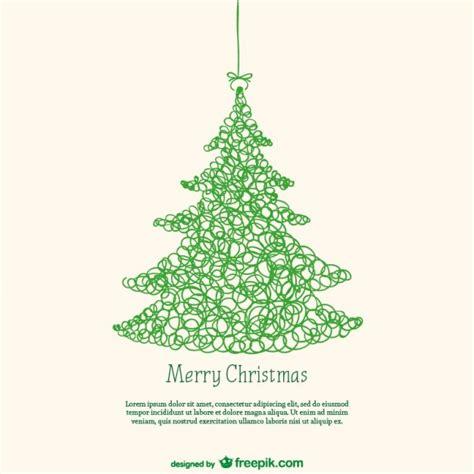 Model De La Targeta Amb L'arbre De Nadal Descarregar