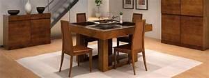 Salle a manger bois massif for Meuble salle À manger avec chaise en bois