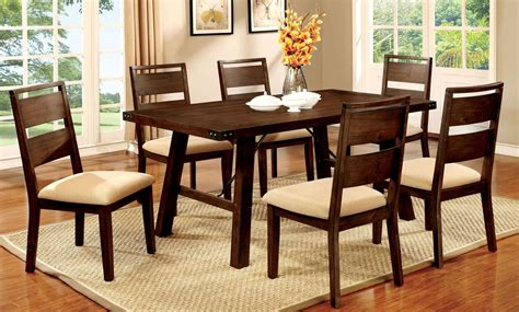 dwight dark oak rectangular dining room set  furniture