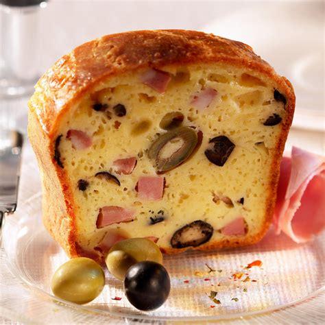 recette cake aux olives  au comte