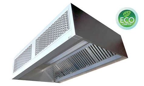 hotte ventilation cuisine professionnelle la hotte à induction econova 500 optimise les débits