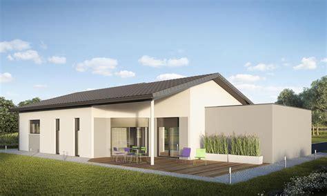 pied de meuble cuisine plan de maison contemporaine avec garage en toiture plate