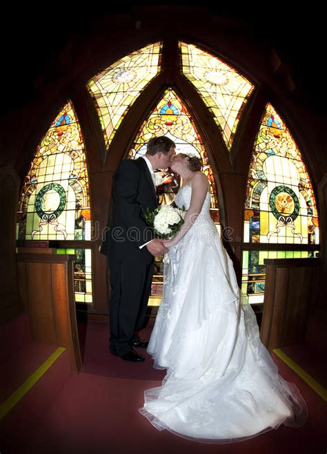 wedding couple stained glass window royalty  stock
