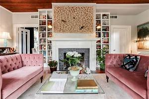 Pink, Sofas, An, Unexpected, Touch, Of, Color, In, The, Living, Room
