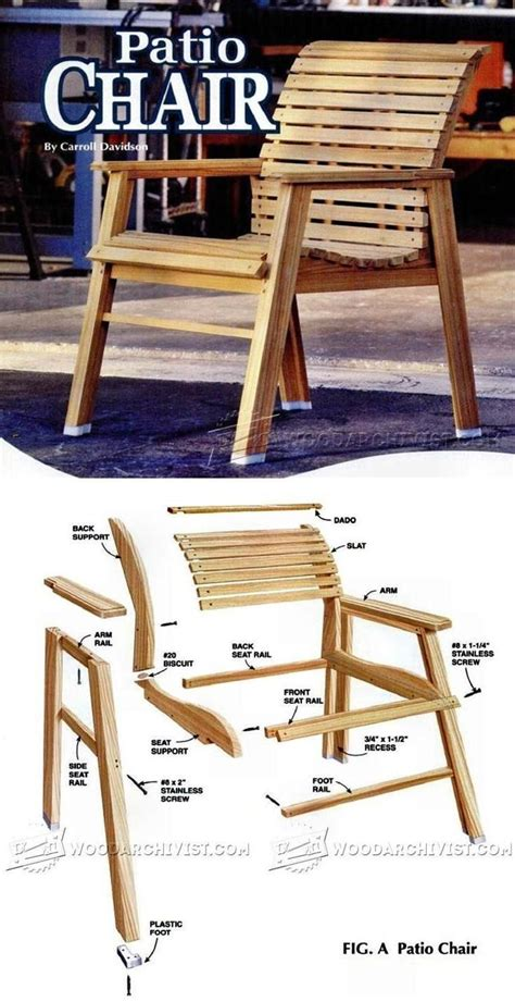 patio chair plans woodworking furniture plans outdoor