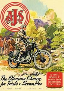 Racing Caf U00e8  Vintage Brochures  Ajs 1948