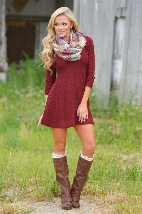 Red Fall Sweater | Her Sweater