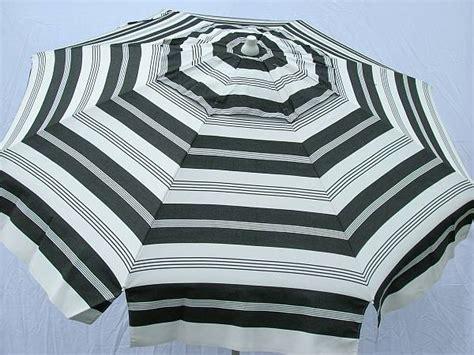 black and white striped patio umbrella 656