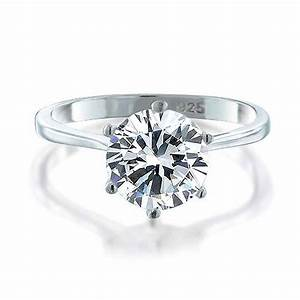 925 sterling silver round cz solitaire engagement ring With circular wedding rings