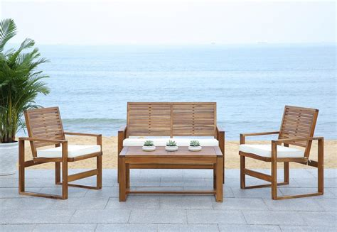 Safavieh Outdoor Furniture fox6007a patio sets 4 furniture by safavieh