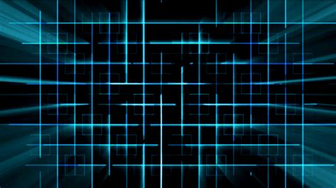 Cyber Background Blue A I Cyber Grid With Light Rays Animation
