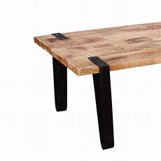Montana Stylish Rectangular Solid Wood And Iron Accent