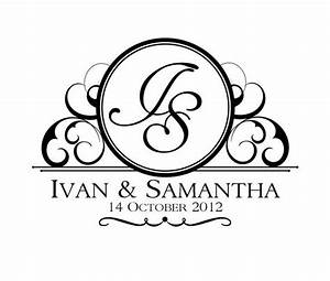 custom wedding logo design by invitationsbyemily on etsy With wedding invitation monogram design free