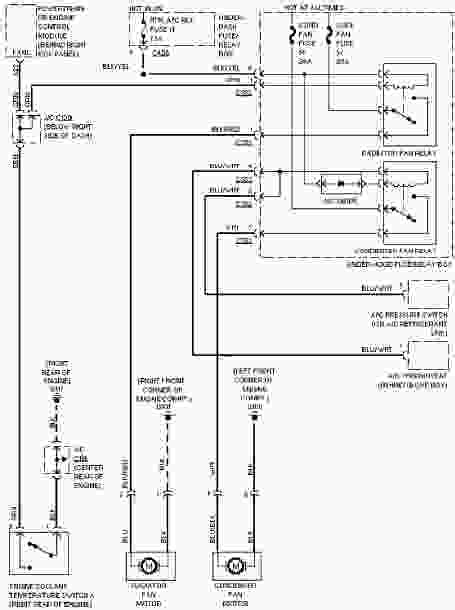 1997 Honda Civic Wiring Diagram by 1997 Honda Civic System Wiring Diagrams Cooling Fan