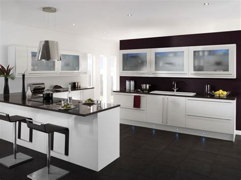 modern black and white kitchen designs cool black and white kitchen ideas with black furniture 9754