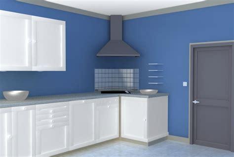 cuisine bleue peinture dépolluante chez onip