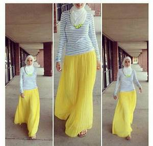 Yellow maxi skirt Hijab | Hijab style | Pinterest | Yellow maxi skirts and Yellow maxi