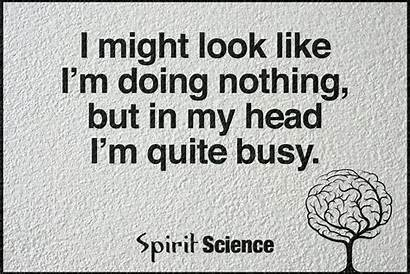 Busy Quotes Doing Nothing Science Meme Spirit