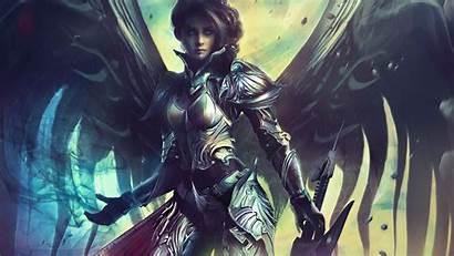 Archangel Warrior Female Wallpapers Infinite Anime Angel