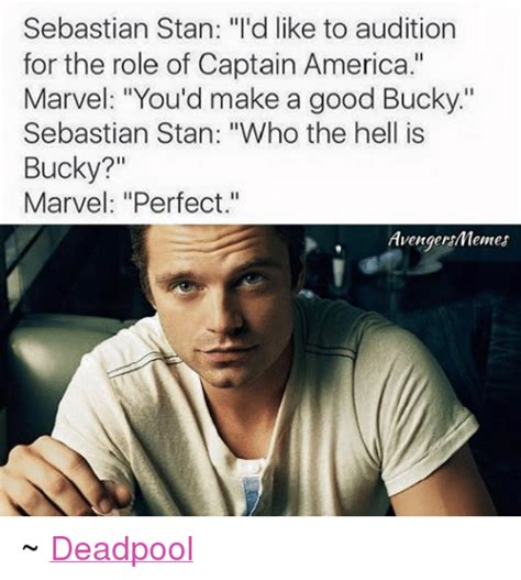 Stan Meme - sebastian stan i d like to audition for the role of captain america marvel you d make a good