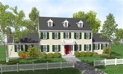 Colonial 3-story House Plans 2 Story Colonial House Plans