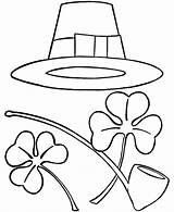 Coloring Patrick Sombrero Printable Shamrocks Patricks Hat Irish Sheets Saint Shamrock Cliparts Clipart Patty Holiday Pipe Drawings Mexican Clip Z31 sketch template