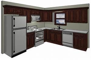 10x10 kitchen layout in the standard 10 x 10 kitchen With 10x10 kitchen designs with island