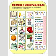 Countable & Uncountable Nouns Worksheet  Free Esl Printable Worksheets Made By Teachers