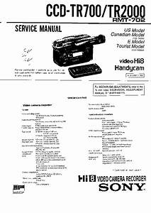 Sony Ccd-tr2000  Ccd-tr700 Service Manual