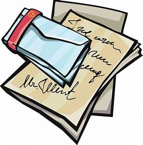 writing a letter clipart clipart suggest With letter clips