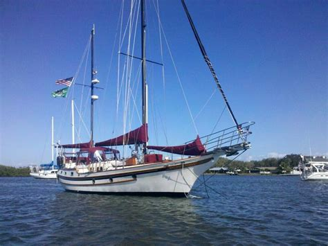 Bluewater Boat Plans by 1987 Blue Water Yachts Vagabond 47 Sailboat For Sale In