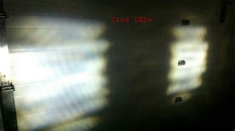 5w cree led lights vs stock halogen lights